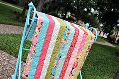 Another strip baby quilt in Sophie by Chez Moi for Moda