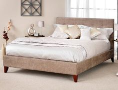 £259 Serene Chelsea Fabric Bed Frame at bestpricebeds.co.uk