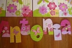 Nombres Arte Country, Country Crafts, Foam Crafts, Arts And Crafts, Diy Crafts, Nursery Crafts, Nursery Decor, Butterfly Birthday Party, Nursery Letters