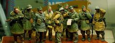 1/35 Scale WW2 German team nine groups WWII Figure Resin Model Kit Free Shipping