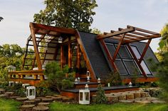 This is my dream home!!!!  Some day :-)  Soleta zeroEnergy One, a small sustainable house