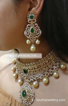 Indian Jewellery Designs - Page 17 of 1734 - Latest Indian Jewellery Designs 2020 ~ 22 Carat Gold Jewellery one gram gold Jewelry Design Earrings, Gold Earrings Designs, Gold Jewellery Design, Necklace Designs, Jewelry Necklaces, Gold Designs, Chanel Jewelry, Gold Jewelry, Diamond Earrings Indian