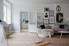 Style and Create — Floor and interior love in an amazing Malmö flat   Photo via…