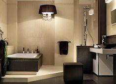 cuarto de baño beige | Diseño de interiores