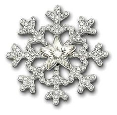 Swarovski Magnet Tack Pin 1065956 by SWAROVSKI. $85.00. Swarovski Tack Pin. This breath-taking rhodium-plated brooch is inspired by a snowflake. Shimmering in delicate clear crystal pavé, it adds an eye-catching touch of festive elegance to any outfit.  Article no.: 1065956 Size: 1 1/8 x 1 1/8 inch  Retail: $85.00