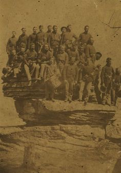 ca. 1864, [21st Wisconsin Volunteer Infantry, Company D at Lookout Mountain in Tennessee]  via the Wisconsin Historical Society