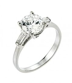 925 Sterling Silver Round and Baguette CZ 3-Stone Engagement Ring (Size 9.5) by CZ Engagement Rings - See more at: http://blackdiamondgemstone.com/colored-diamonds/jewelry/925-sterling-silver-round-and-baguette-cz-3stone-engagement-ring-size-95-com/#sthash.f6OmTSch.dpuf