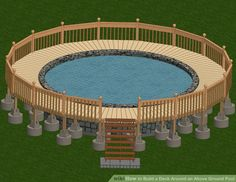 How To Build An Above Ground Pool Deck Part 1of 3 Ground