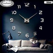 2015 nouvelle decoration de la maison horloge murale grande horloge murale miroir design moderne grande