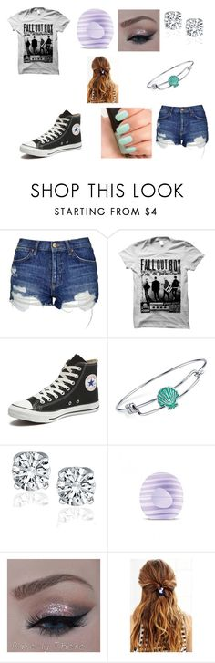 """""""Date With Lost Silver"""" by ariettav ❤ liked on Polyvore featuring Topshop, Converse, Disney, Eos, NARS Cosmetics, Urban Outfitters, creepypasta and lostsilver"""