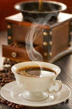 Ahh the aroma of fresh coffee !
