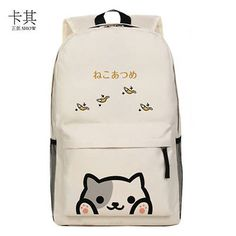 Neko Atsume cat backyard meow collection shoulder bag school bag backpack New GG