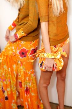 Peter Som Spring 2013  Orange explosion  Trend Bright Colors