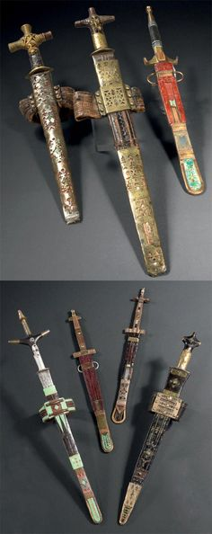 Africa | Swords and daggers from the Tuareg people