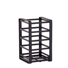 INDUSTRIA Support ustensiles de cuisine noir H 16,5 x Larg. 10 x P 10 cm