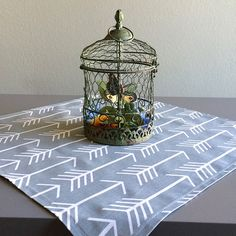 Gray Table Square  Premier Prints Arrow Cool by homehaberdasher (Home & Living, Kitchen & Dining, Linens, Table Linens, Tablecloths, home dec, table runner, table decor, table square, table cloth)