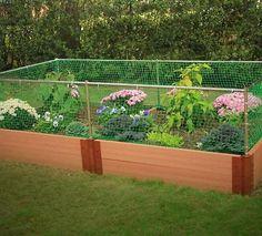 "Frame-It-All Raised Garden 4'x8'x12"" 2"" series w/Animal Barrier"