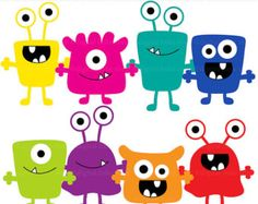 monsters clip art digital aliens clipart - Monsters Digital Clip Art