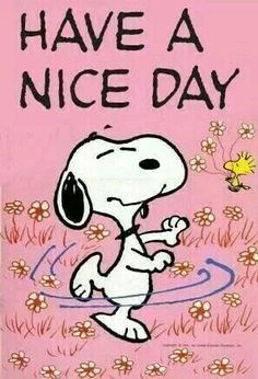 Can't help but smile and feel good when you see Snoopy like this!