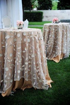 Lace Table Overlays www.burnettsboards.com
