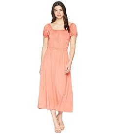 RACHEL PALLY , CORAL. #rachelpally #cloth Rachel Pally, Rockabilly, Caftan Dress, Dresses For Work, Summer Dresses, Free Clothes, Retro, Dress Outfits, Cold Shoulder Dress