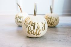 Cute Fall Decor • Handlettered by Laura Fraser