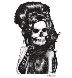 Dead Famous – Ilustrações de caveiras de famosos falecidos