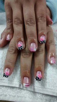 26 Ideas French Pedicure Designs Toenails Polka Dots For 2019 Pedicure Nail Art, Pedicure Colors, Manicure E Pedicure, Toe Nail Art, Pedicure Ideas, Pedicures, Nail Ideas, Fingernail Designs, Toe Nail Designs