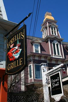 Art Galleries, Lobster and New England architecture, Provincetown, MA