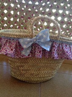 Cesto para playa Basket Liners, Creation Couture, New Bag, Straw Bag, Kids Fashion, Creations, African, Lace Bag, Beach