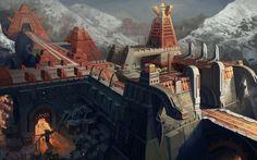 """ancient""  temple by molybdenumgp03.deviantart.com on @deviantART"