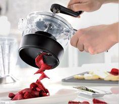 Como se ve en tv ensalada cocina procesador de alimentos GEFU Spiralfix espiral cortador de alimentos vegetales cebolla patata zanahoria máquina de cortar cortar en Cuchillos de Cocina de Casa y Jardín en AliExpress.com | Alibaba Group