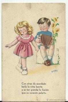 POSTAL ESTAMPERIA RAM .- SERIE 5..?. .- ILUSTRA BOMBON (Postales - Dibujos y Caricaturas)