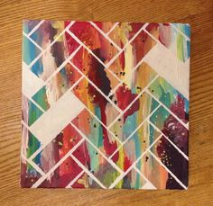 Abstract Stripes On Canvas | Community Post: 18 Simple DIY Canvas Wall Hangings To Brighten Any Room