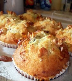The English Kitchen: Pear, Date and Stilton Muffins