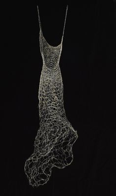 """Aurum Argentum"" Wire Dress Sculpture, Wire Dress, Woven Wire Dresses"