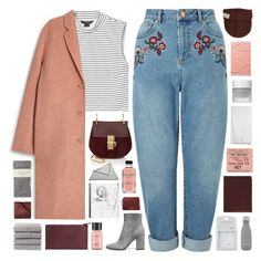 uauu by giulls1 on Polyvore featuring polyvore, fashion, style, Monki, Acne Studios, Miss Selfridge, Falke, Gianvito Rossi, Chloé, Georgina Skalidi, Topshop, Krochet Kids, Perricone MD, Omorovicza, Bobbi Brown Cosmetics, Violeta by Mango, Burberry, Mulberry, Christy, JR by John Robshaw, JCPenney Home, S'well, clothing, Pink, stripes, chelseaboot, pinkcoats and embroideredjeans