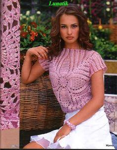 Many beautiful free crochet patterns - symbols only