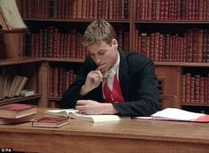 Studious: The young Duke of Cambridge buckles down and hits the school books at Eton