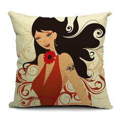 Four Seasons Sweet Sexy Girls Cushions Covers #pillows #cushions #girls #monkey #girlpillow #style #fashion