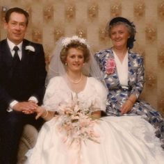 Karen and her family on her wedding day. Posted in memory of her Dad Ray.