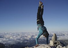 Berghaus sponsored climber Leo Houlding showing he could've been a gymnast!