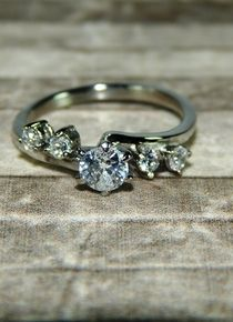 Talla 7 - Anillo lazo de circón cristal acompañado Wedding Rings, Engagement Rings, Jewelry, Stainless Steel, Jitter Glitter, Hair Bows, Silver, Crystals, Jewelery