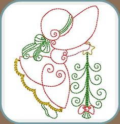 primitive christmas redwork patterns | Machine Embroidery Designs :: Affordable :: Great Quality ...