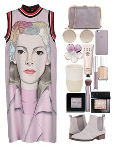 """""""Prada dress"""" by juliehalloran ❤ liked on Polyvore featuring Marc Jacobs, Bobbi Brown Cosmetics, Chanel, Norden, Essie, Cole Haan and Prada"""
