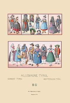 Costumes of Tyrol, Germany