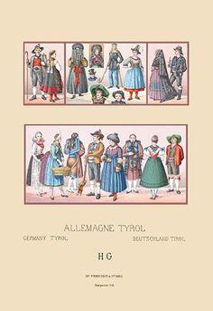 Costumes of Tyrol, Germany