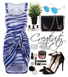"""""""Print Midi Day Dress"""" by oshint ❤ liked on Polyvore featuring STELLA McCARTNEY, Bobbi Brown Cosmetics, Balmain, Givenchy, Charlotte Russe and Brucs"""