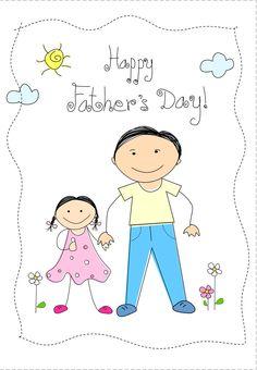 Illustration about Happy father s day greeting card with a small child [daughter] and father. Illustration of graphic, child, decoration - 9701151 Happy Fathers Day Son, Happy Fathers Day Greetings, Father's Day Greetings, Diy Father's Day Crafts, Father's Day Diy, Fathers Day Crafts, Paper Crafts, Father's Day Clip Art, I Love Daddy