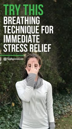 Sometimes we simply can't avoid stress - especially when life throws curve balls. Practice Nadi Shodhana with this tutorial for immediate stress relief. Stress Relief Essential Oils, Stress Relief Tips, Stress Free, Anxiety Tips, Stress And Anxiety, Anxiety Tattoo, Anxiety Facts, Health